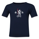 Chelsea Distressed Retro Toddler T-Shirt (Navy)