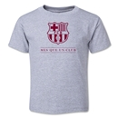 Barcelona Mes Que Un Club Toddler T-Shirt (Gray)