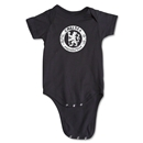 Chelsea Distressed Emblem Onesie (Black)