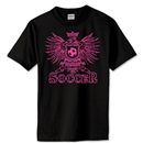 Girls Eagle Soccer T-Shirt (Black)