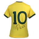 Icons Pele Signed Brazil 1970 The Number 10 Shirt