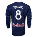 New York Red Bulls 2013 JUNINHO Authentic LS Secondary Soccer Jersey