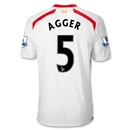 Liverpool 13/14 AGGER Away Soccer Jersey