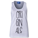 adidas Women's Originals Hand-Drawn Type Tank (White)