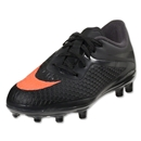 Nike Junior Hypervenom Phelon FG (Dark Charcoal/Total Crimson/Black)