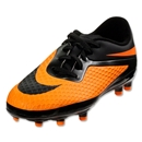 Nike Junior Hypervenom Phelon FG (Black/Black/Dark Citrus)
