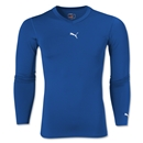PUMA Lite Long Sleeve V-Neck T-Shirt (Royal)