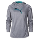 PUMA Women's Ess Gym Cat Hoody (Gray)