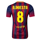 Barcelona 13/14 A.INIESTA Authentic Home Soccer Jersey