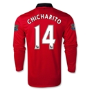 Manchester United 13/14 CHICHARITO LS Home Soccer Jersey