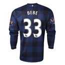 Manchester United 13/14 BEBE LS Away Soccer Jersey