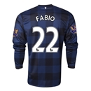 Manchester United 13/14 FABIO LS Away Soccer Jersey