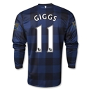 Manchester United 13/14 GIGGS LS Away Soccer Jersey