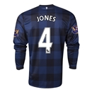 Manchester United 13/14 JONES LS Away Soccer Jersey
