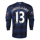 Manchester United 13/14 LINDEGAARD LS Away Soccer Jersey
