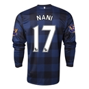 Manchester United 13/14 NANI LS Away Soccer Jersey