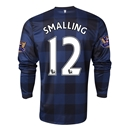 Manchester United 13/14 SMALLING LS Away Soccer Jersey