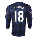 Manchester United 13/14 YOUNG LS Away Soccer Jersey