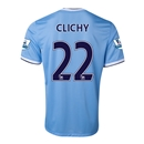 Manchester City 13/14 CLICHY Home Soccer Jersey