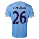 Manchester City 13/14 DEMICHELIS Home Soccer Jersey