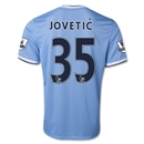 Manchester City 13/14 JOVETIC Home Soccer Jersey