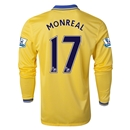 Arsenal 13/14 MONREAL LS Away Soccer Jersey