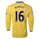 Arsenal 13/14 RAMSEY LS Away Soccer Jersey