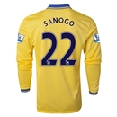 Arsenal 13/14 SANOGO LS Away Soccer Jersey