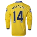 Arsenal 13/14 WALCOTT LS Away Soccer Jersey