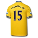 Arsenal 13/14 Chamberlain Away Soccer Jersey
