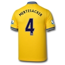 Arsenal 13/14 MERTESACKER Away Soccer Jersey