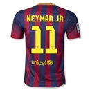 Barcelona 13/14 NEYMAR JR Youth Home Soccer Jersey