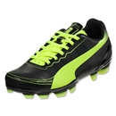 PUMA 5.2 FG JR (Black/Fluorescent Yellow)