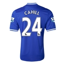 Chelsea 13/14 24 CAHILL Home Soccer Jersey