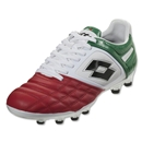 Lotto Stadio Potenza II 100 FG (White/Green/Red)