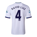 Chelsea 13/14  4 DAVID LUIZ Away Soccer Jersey