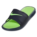 Nike Benassi Solarsoft Slide (Midnight Navy/Flash Lime)