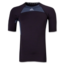adidas TechFit Compression T-Shirt (Blk/Grey)