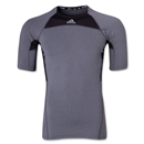 adidas TechFit Compression T-Shirt (Dk Grey)