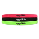 MaxFlow Cross Grip 3 Pack Headbands (Pink/Green/Black)