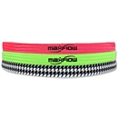 MaxFlow Cross Grip 3 Pack Headbands (Pink/Green/Houndstooth)