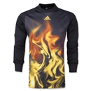 adidas Flame LS Goalkeeper Jersey (Blk/Yellow)