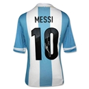ICONS Leo Messi Signed Argentina 2013 Home Soccer Jersey