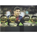 ICONS Leo Messi Signed Photo Ballon D'or