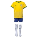 Brazil 14/15 Home Boys Kit