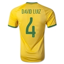 Brazil 2014 DAVID LUIZ Authentic Home Soccer Jersey
