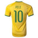 Brazil 2014 PELE Authentic Home Soccer Jersey