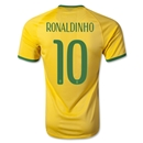 Brazil 2014 RONALDINHO Authentic Home Soccer Jersey