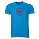 Arsenal Crest Men's V-Neck T-Shirt (Turquoise)