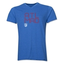 Atletico Madrid ATL MAD V-Neck T-Shirt (Heather Royal)